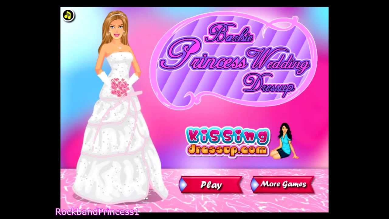 Barbie dress up games for girls and kids barbie princess wedding