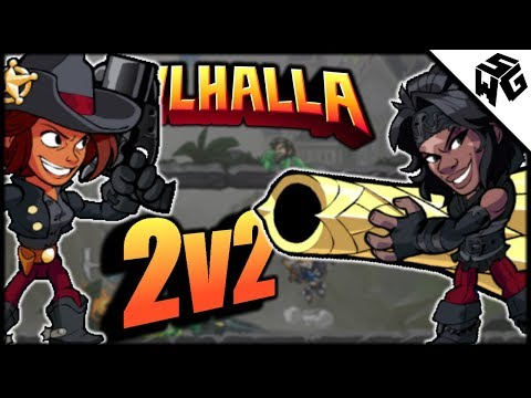 Diamond Ranked 2v2's - Brawlhalla Gameplay :: Cannon/Blaster Practice