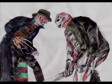 Freddy vs Jason Drawings New Nightmare Freddy vs Jason