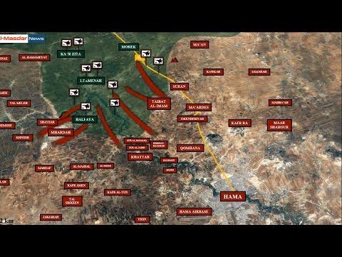 Развал обороны джихадистов в Северной Хаме (Сирия). Обзор за 25 апреля 2017. Русский перевод.