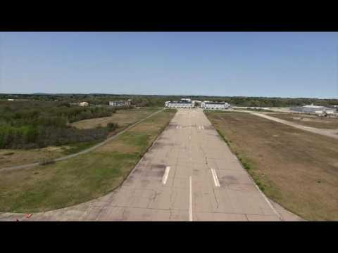 Drone over Boston Marathon Film set and the Naval airbase