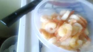 Aloka's cooking class # Shrimp, potato,cauliflower  curry, authentic  Bengali style #  step(2)