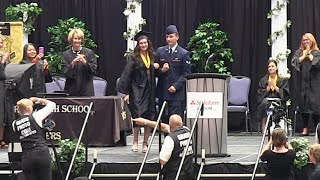 Soldier returns home - SURPRISE at high school graduation