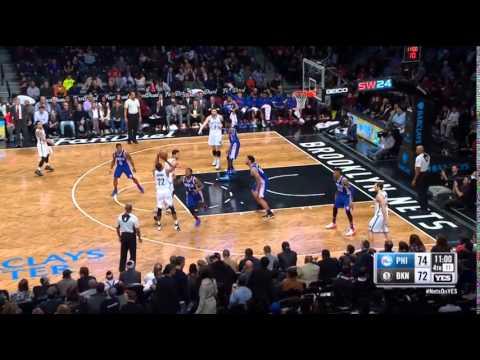 Markel Brown Brooklyn Nets Three-Pointer vs 76ers on 12/10/15