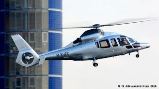 Eurocopter EC155 Dauphin M-XHEC Landing & Takeoff at London Heliport