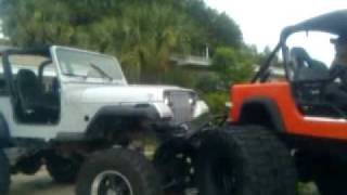 failed try to flex a jeep out on a 48 inche tall