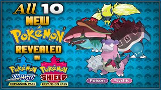 All 10 New Pokemon Revealed and News in the Isle of Armor & Crown Tundra Sword and Shield Expansion
