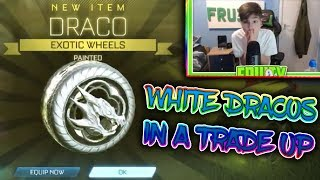 I GOT WHITE DRACOS IN A TRADE UP | *INSANE* | ROCKET LEAGUE