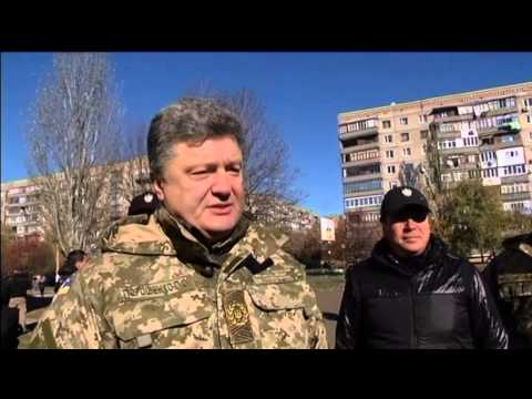 Poroshenko Visits East Ukraine Donbas: President visits Kramatorsk on election day
