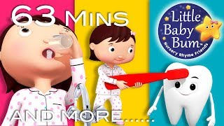 This Is The Way We Brush Our Teeth | Part 2 | Plus More Nursery Rhymes | 63 Mins By LittleBabyBum!