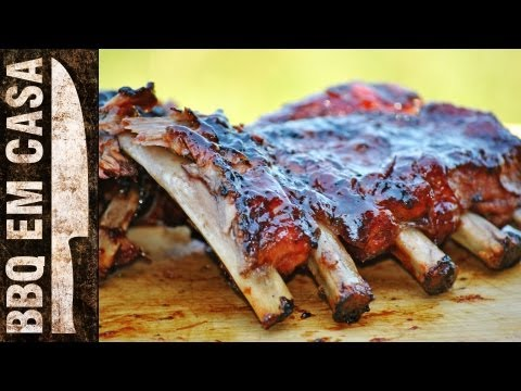 RECEITA DE COSTELINHA AO MOLHO BARBECUE II (ribs on the barbie - churrasco)