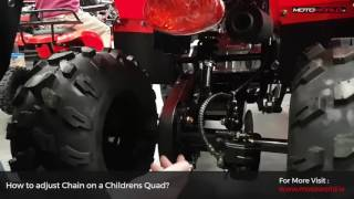 How To Adjust Kids Quad Chain Correctly - Motoworld Ireland