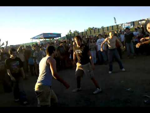Girl Gets Layed Out In Mosh Pit!!!