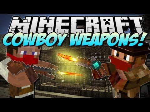 Minecraft   COWBOY WEAPONS! (Flintlock Weapons Mod!)   Mod Showcase [1.5.2]