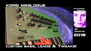 Korg Minilogue Custom Bass Leads & Tweaks! Analog Synthesizer Rik Marston 2018