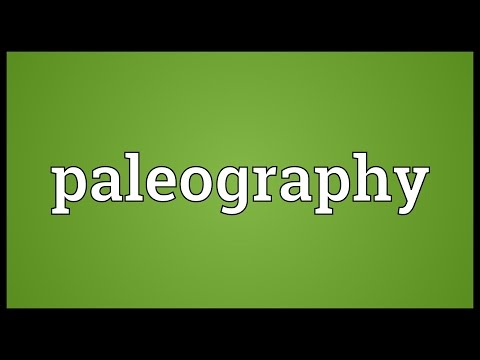 Paleographic definition of marriage