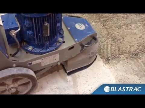 Rimozione colla cementizia | Blastrac levigatrice BG-250