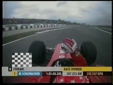 F1 Spain 2001 - Mika Hakkinen retires on last Lap Schumi team radio & Apology