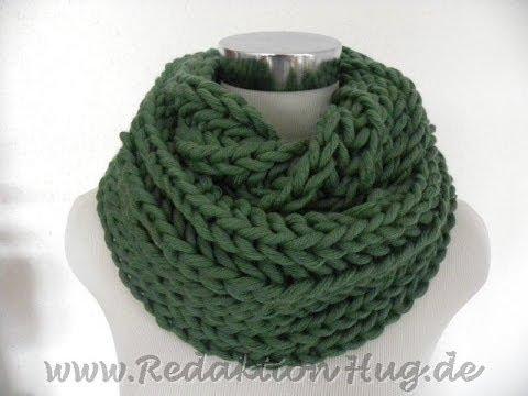 Stricken - Schal oder Loop im Patentmuster - hatnut Cool