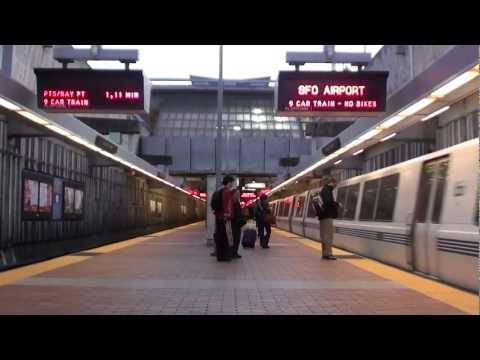 Dublin/Pleasanton Train Arriving at Balboa Park BART (HD)
