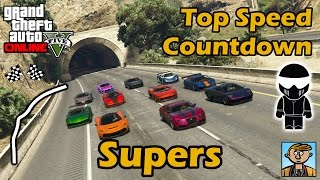 Fastest Supercars - Top Speeds Of Fully Upgraded Cars In GTA Online