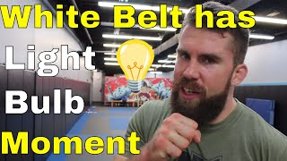 BJJ White Belt Unexpectedly Discovers New Way of Rolling