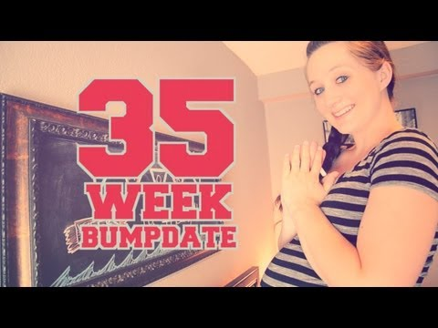 35 WEEK BUMPDATE - First Midwife Appointment, Naps, and HUGE pregnant Belly!