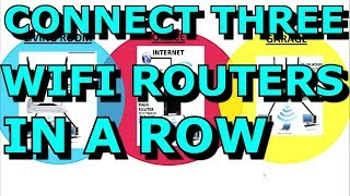 Connecting Three WIFI Routers Together In A Row and Sharing the Internet WDS Daisy Chain
