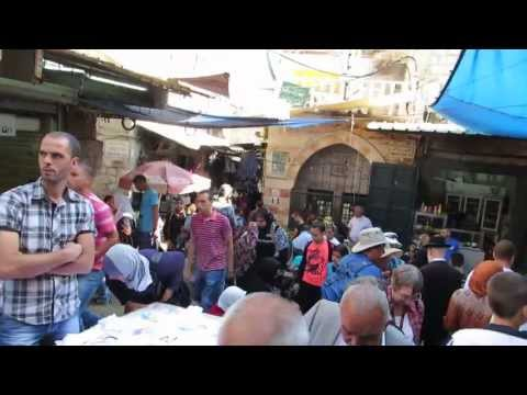 The Market at the Damascus Gate area  during the Muslim holiday - Eid al-Adha (عيد الأضحى)