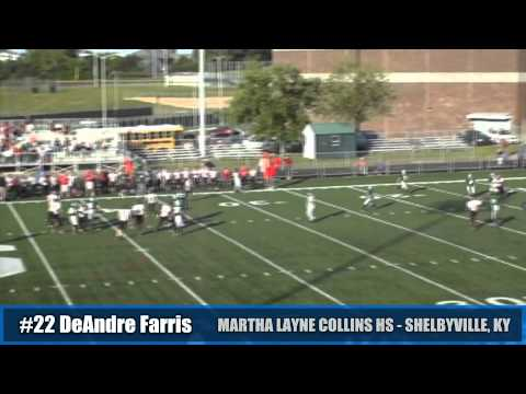 Highlights of #22 Deandre Farris During His 8th Grade Season at West Middle (Shelbyville,KY) 9th Grade Season (Freshman/Varsity) At Martha Layne Collins HS (...