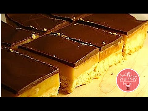 Millionaire Shortbread Recipe - Caramel Shortbread - Печенье Поцелуй миллионера