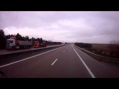 Accident camion frigo autoroute A26