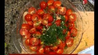 طعم تانى| طريقة عمل سلطة طماطم شيرى مع الشيف احمد المغازى