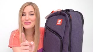 ✨ NEW Nintendo Switch Backpack and Cases + Zelda / Mario Kart Gameplay!