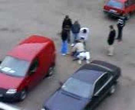 Street fight in East Europe ,Riga, Svamp Village ghetto Image 1