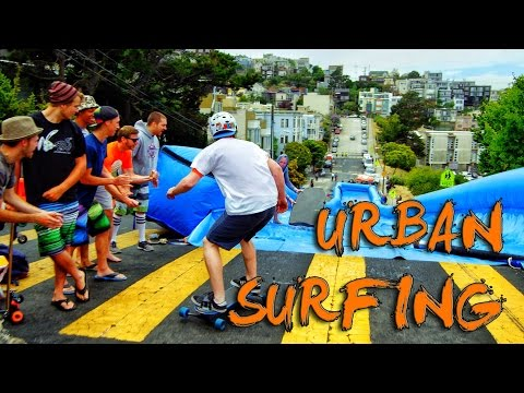 Urban Surfing Down Streets Of San Francisco! - Bear Naked! video