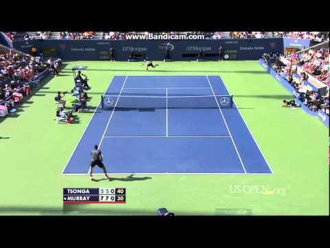 Andy Murray vs Jo Wilfried Tsonga US Open 2014 R4 Highlights (HD)
