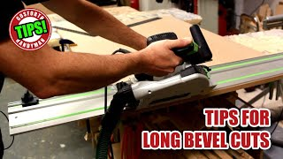 Long Bevel Cuts, Mitres & Parallel Cuts on the Track Saw - GHTL#30 [163]