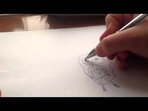 Видео как нарисовать девочку и мальчика