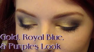 Gold, Royal Blue and Purples Look (Featuring UD Vice Palette)