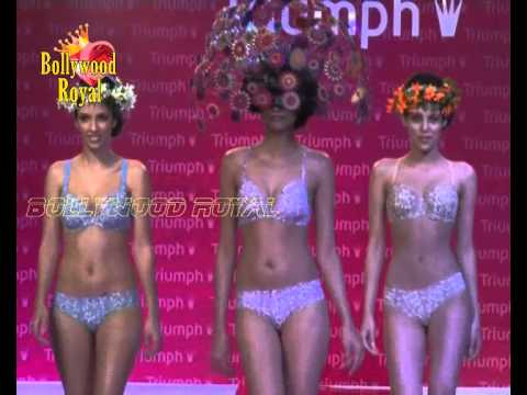Semi Nude Models Walk The Ramp From Triumph Lingerie Show Part 2 video
