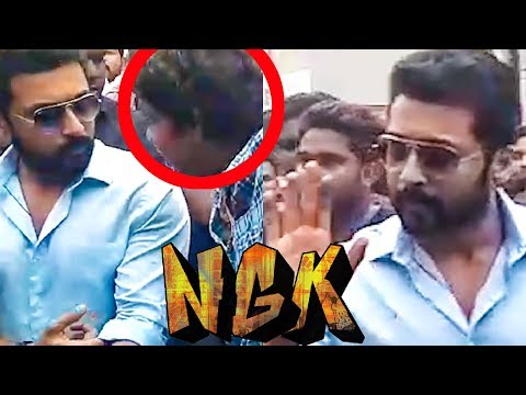 Suriya Mobbed by Fans at NGK Shooting Spot!