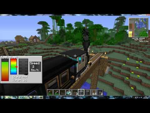 minecraft: proyecto ciudad (estacion central y mod trenes)