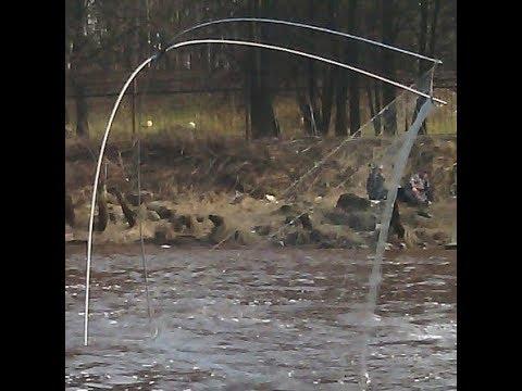 Рыбалка на ПАУКА  в начале апреля в малых протоках.........