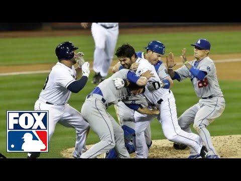 Dodgers pitcher Zack Greink hit Padres slugger Carlos Quentin int he shoulder, leading to a bench clearing brawl as Quentin charged the mound, and inciting a...