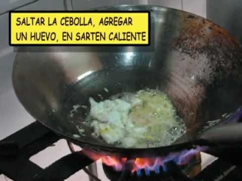 COCINA PERUANA- 2 recetas-  arroz chaufa