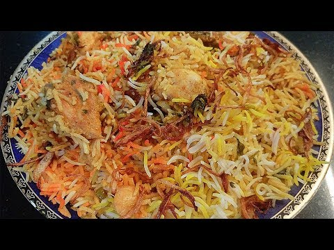 Hyderabadi Chicken Dum Biryani | Hyderabadi Chicken Dum Biryani Recipe in hindi By Farheen Khan