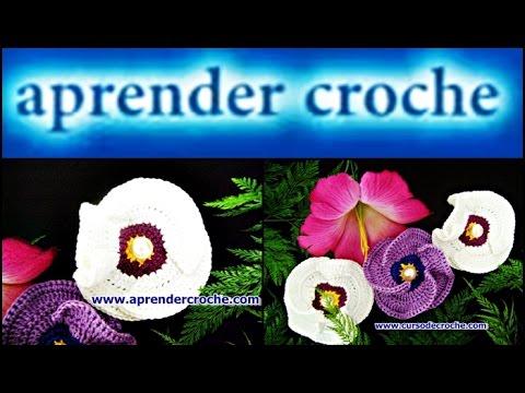 Flores Em Crochê 015 — Flor Papoula