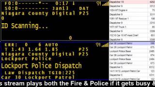 01/13/18 AM Niagara County Police & Fire Scanner Stream Fire Wire