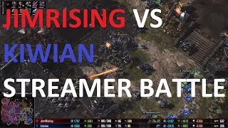 Streamer Battle w/BC's! - Kiwian (TOP) vs JimRising! - TvZ - Starcraft 2